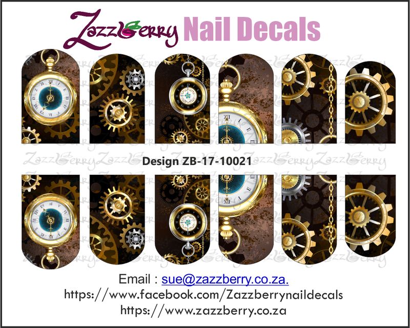 Steampunk Clocks Nail Wraps