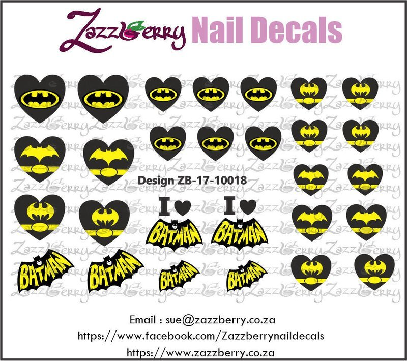 Batman Love Nail Decals