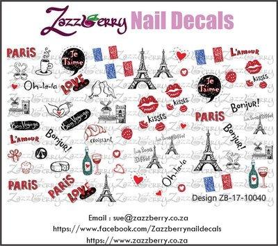 Paris Elements Nail Decals