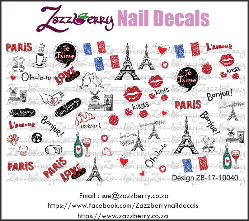 Paris Elements Nail Decals