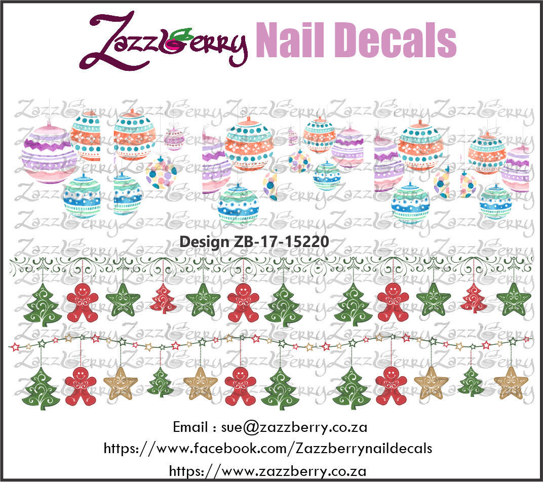 Christmas Water Color Decorations