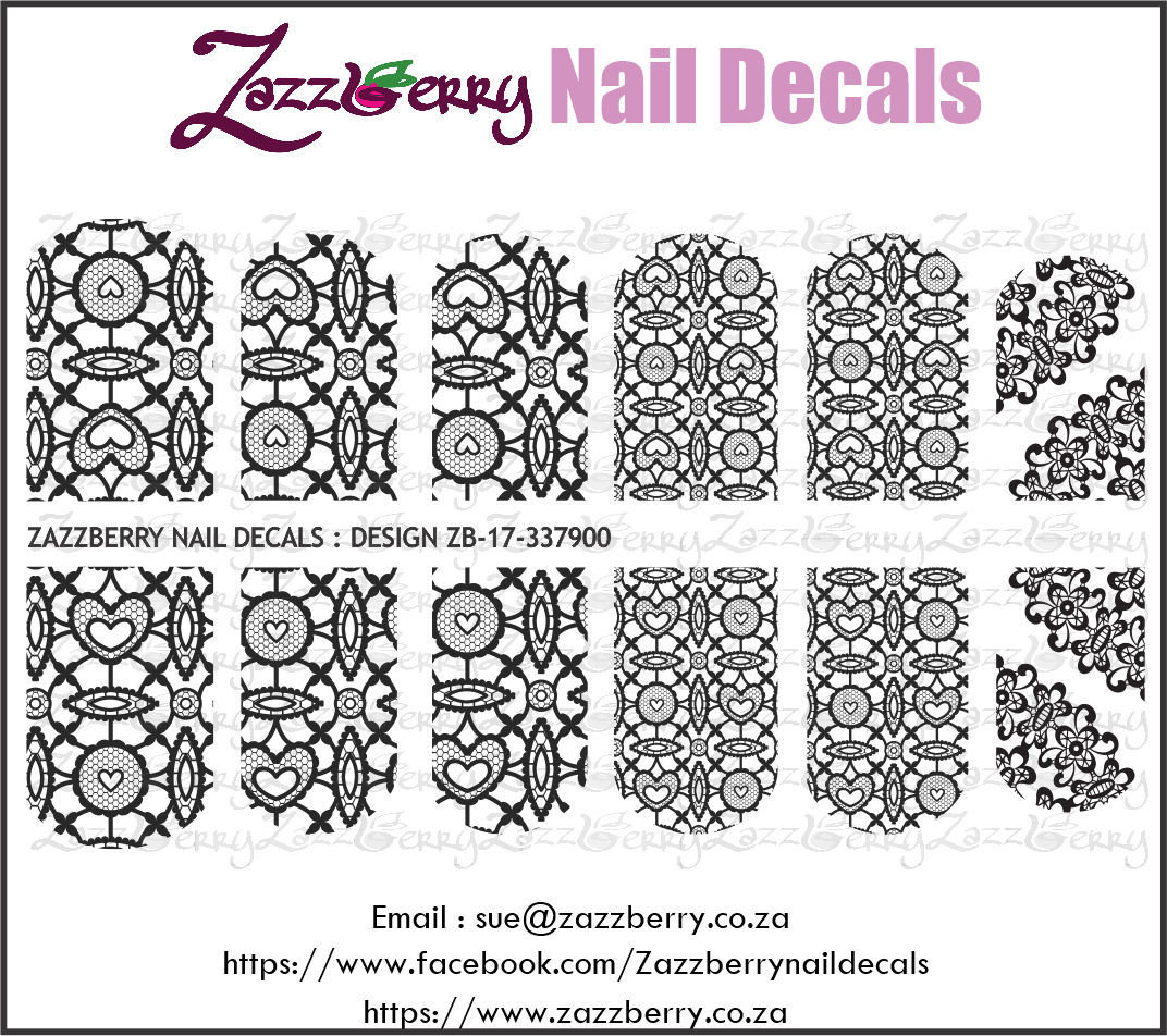 Hearts and More on Lace (Black or White)