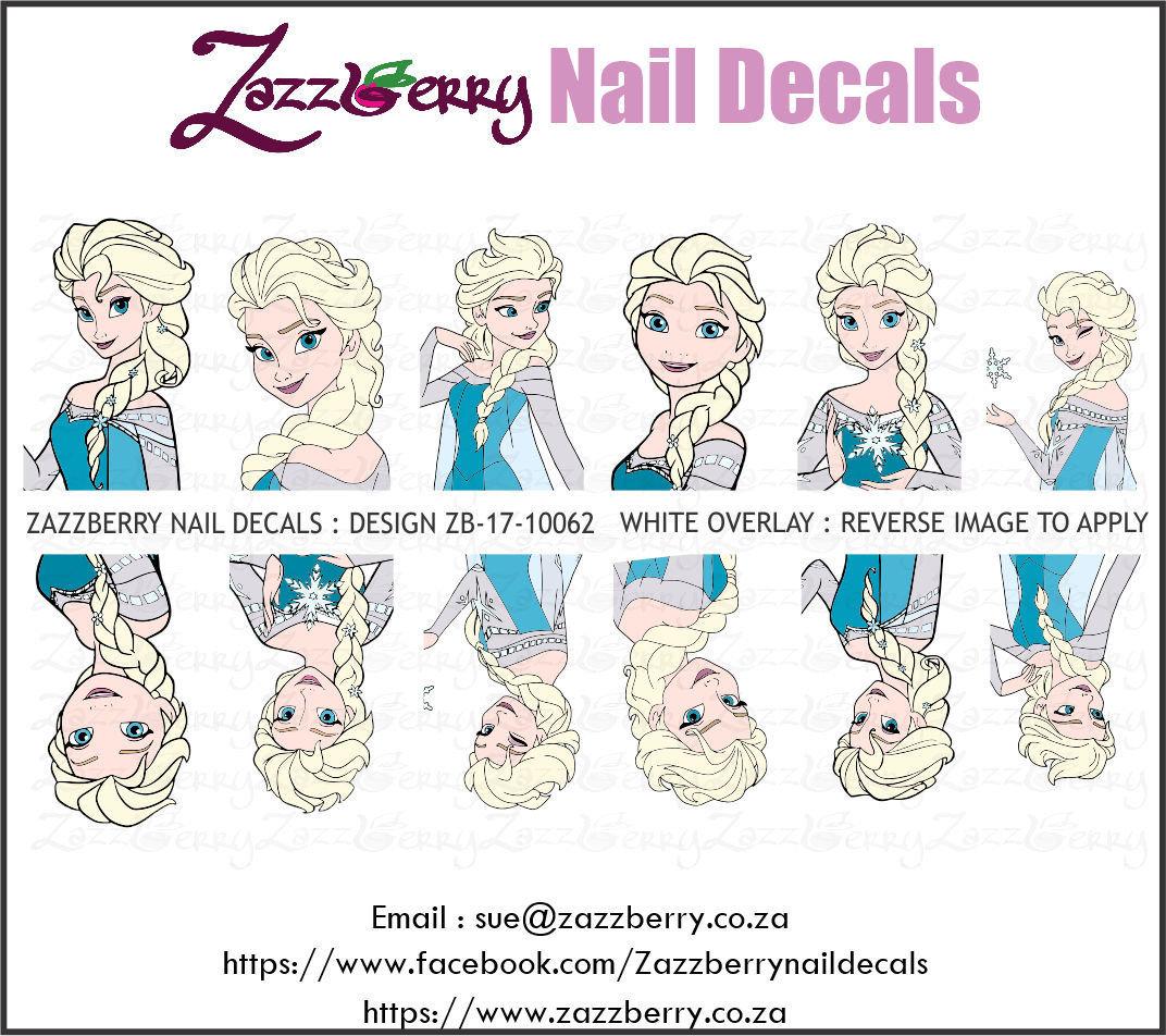 Frozen Elsa Nail Decals