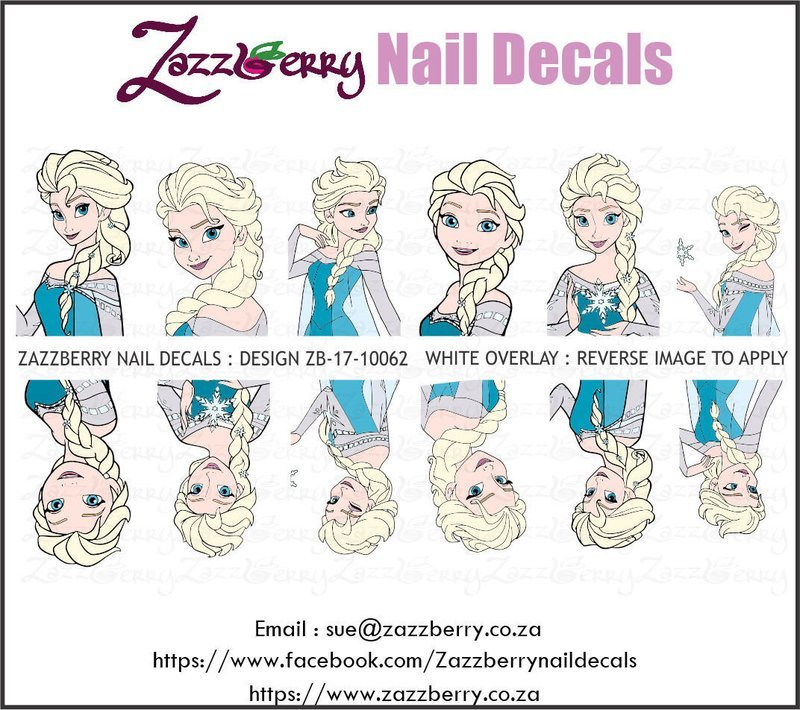Frozen Elsa Nail Decals