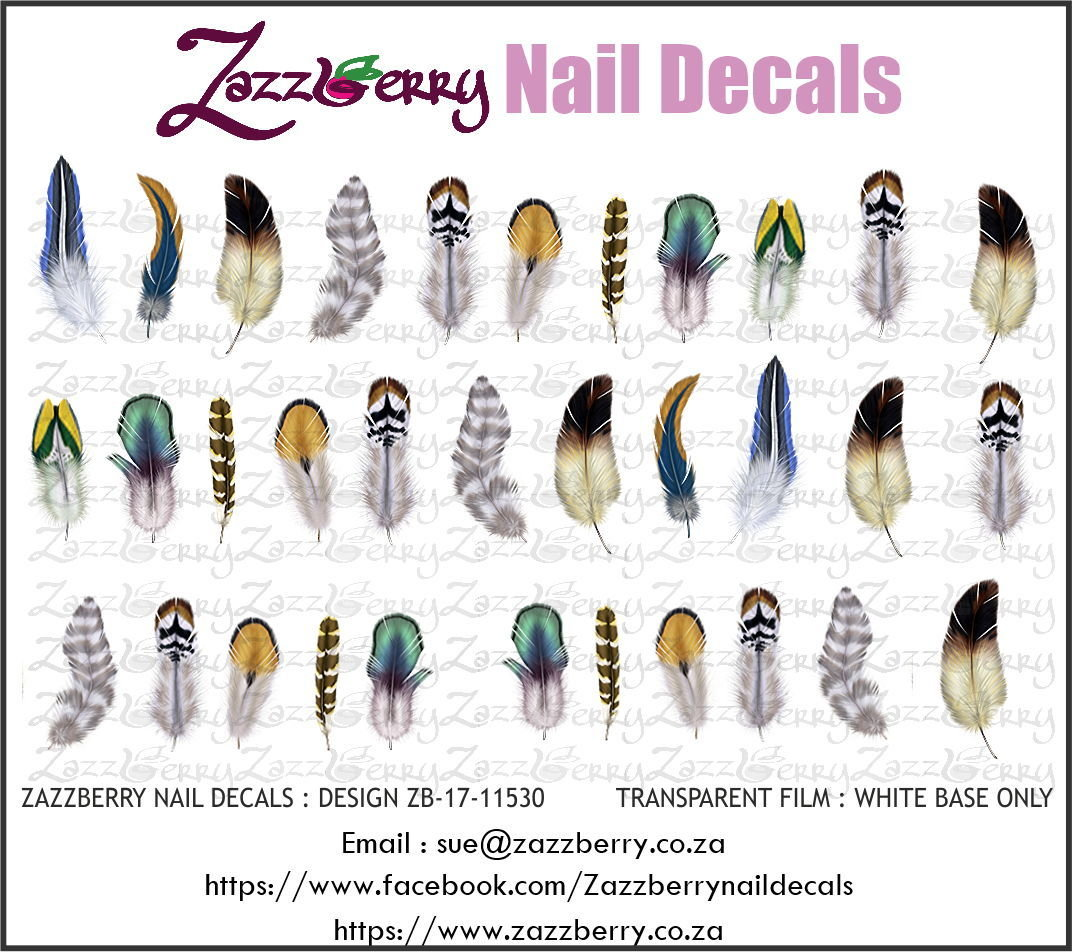 Feather Nail Decals