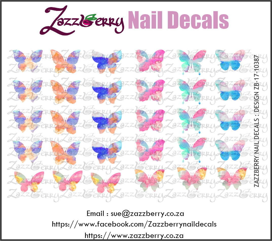 Water Color Butterflies Single