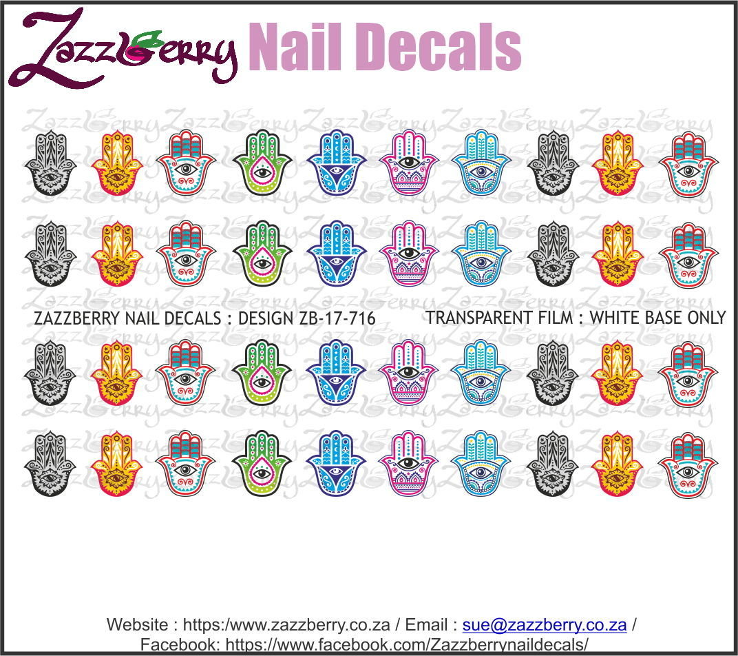 Khamsa Hands Nail Decals