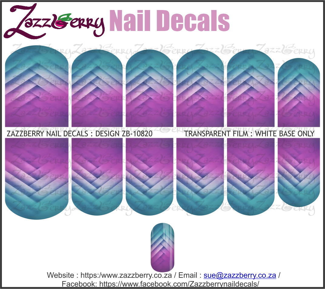 Blue to Purple Patterned Ombre