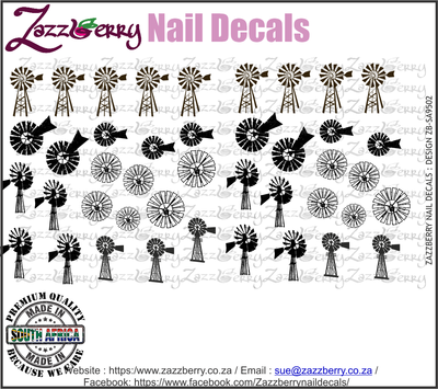 Windpomp Elements Nail Decals