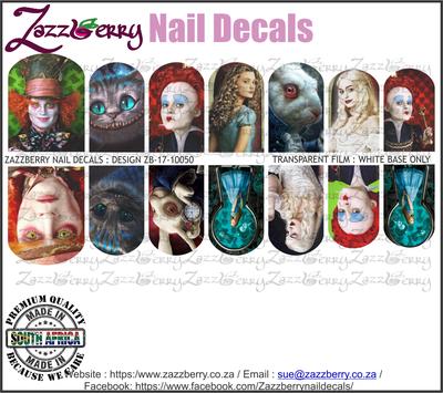Alice in Wonderland Nail Decals
