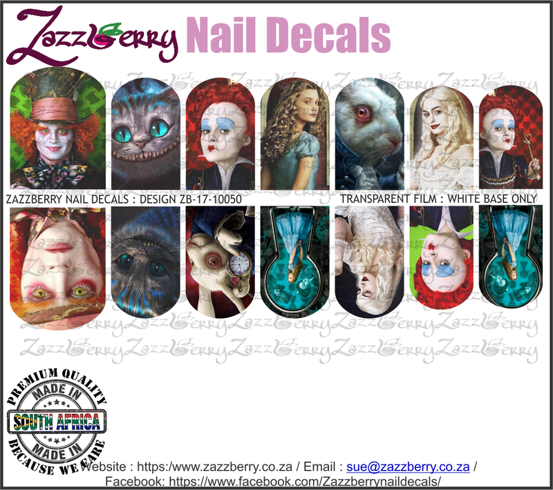 Alice in Wonderland Nail Decals