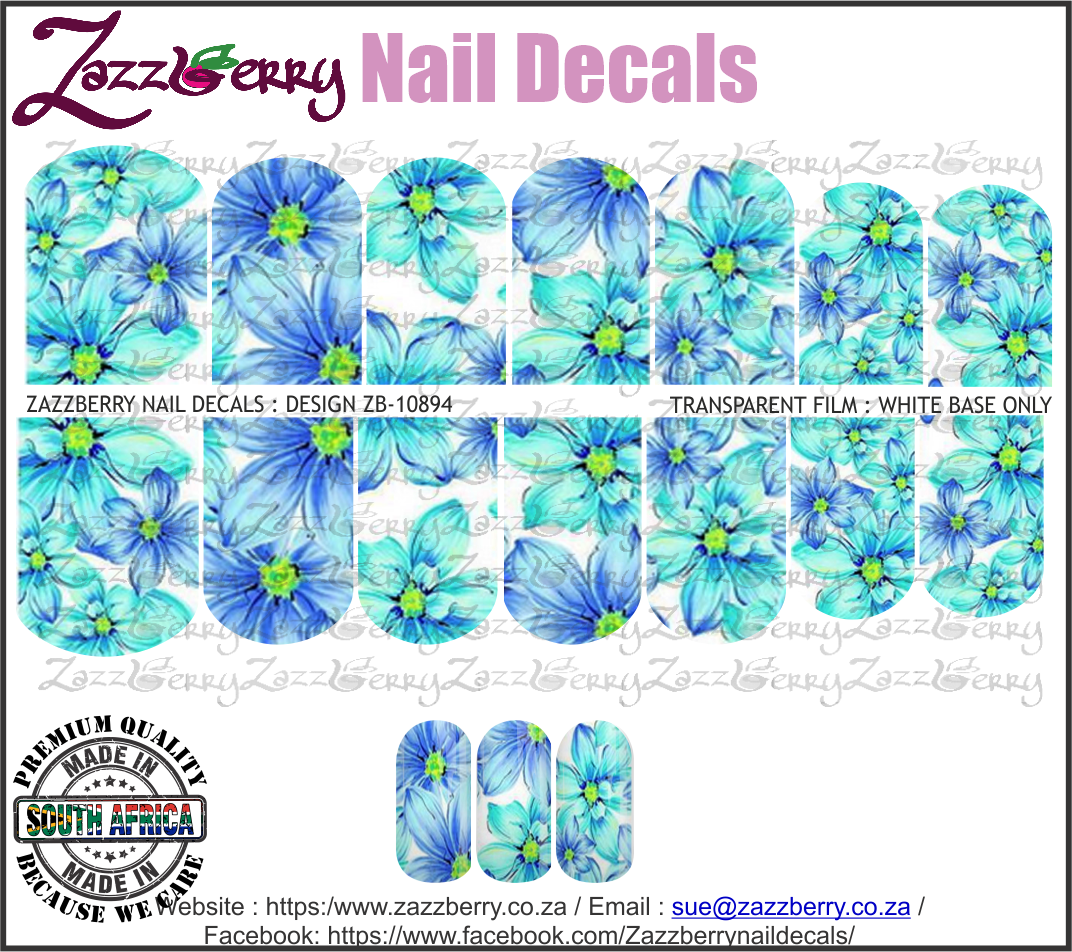 Bright Blue Flowers