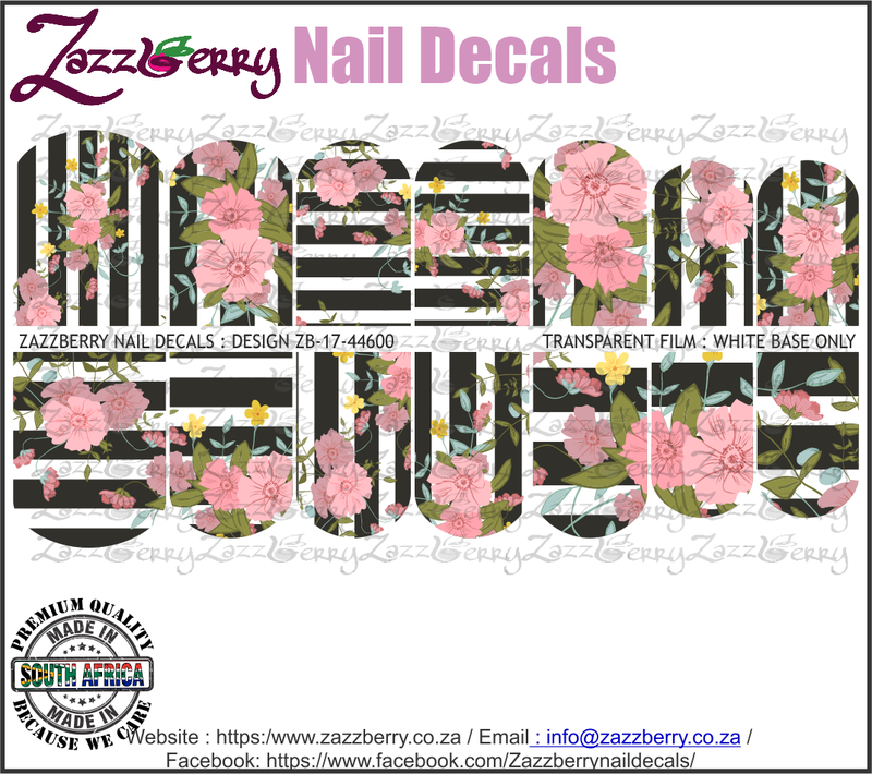 Pink Flowers on a striped background