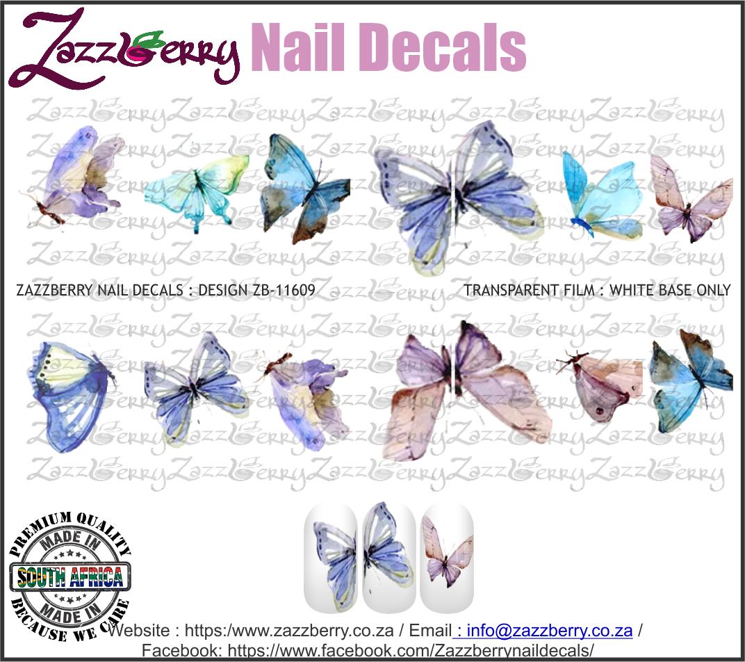 Water Color Butterflies Singles