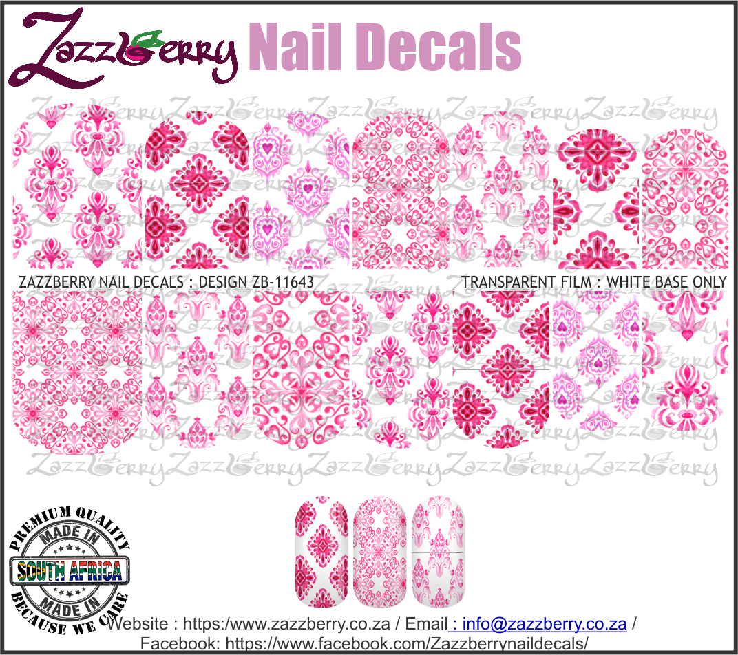 Pink Water Color Damask