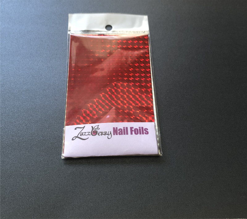 Red Holographic Foil