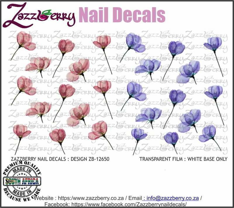 Pressed Pink and Blue Flowers