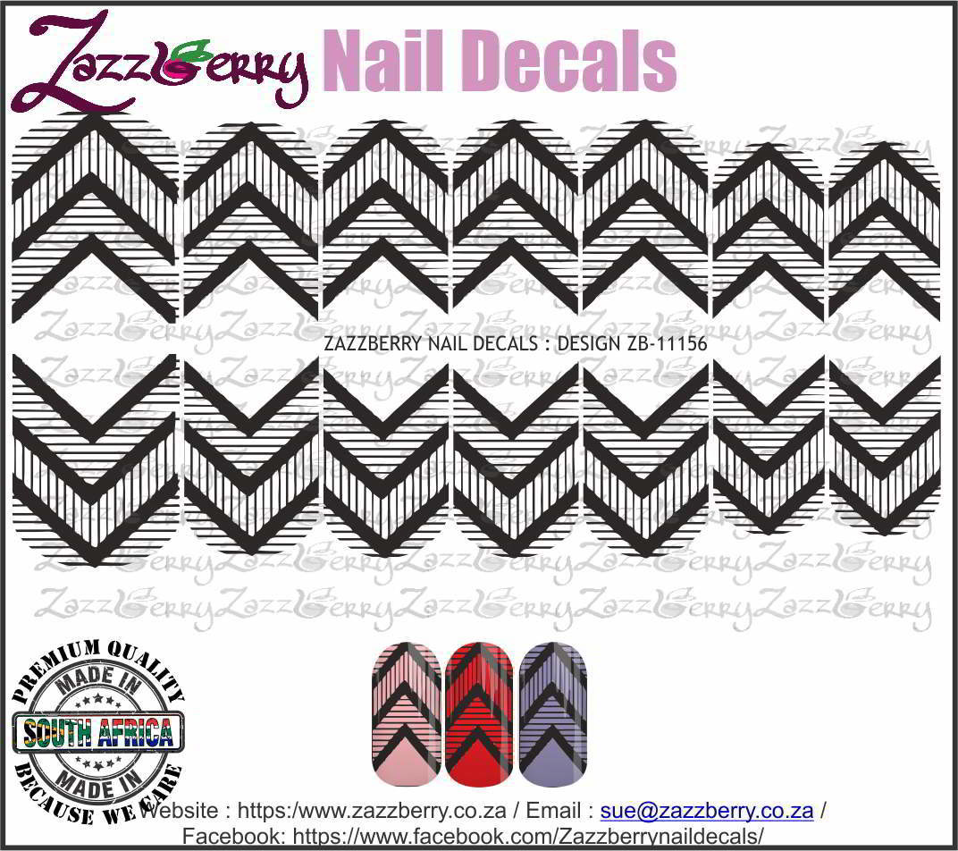Chevron Stripes (Black or White)
