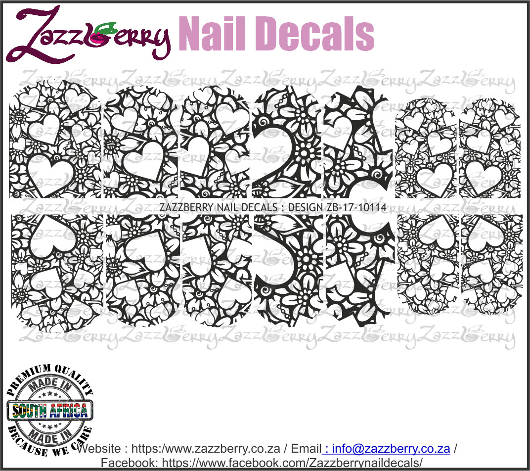Hearts  almost Lace (Black or White