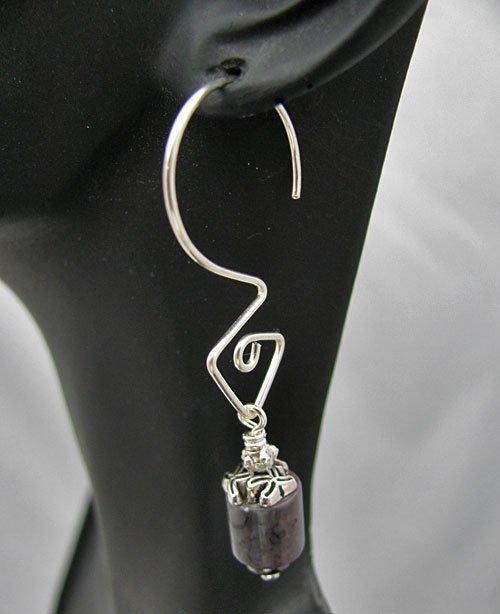 Triangular Sterling Interchangeable Earrings
