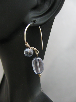 Silver Wire Wrapped Sterling with Blue Stone