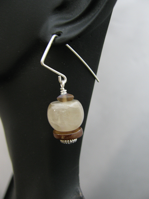 Sterling Silver Earwire and Stone Beads