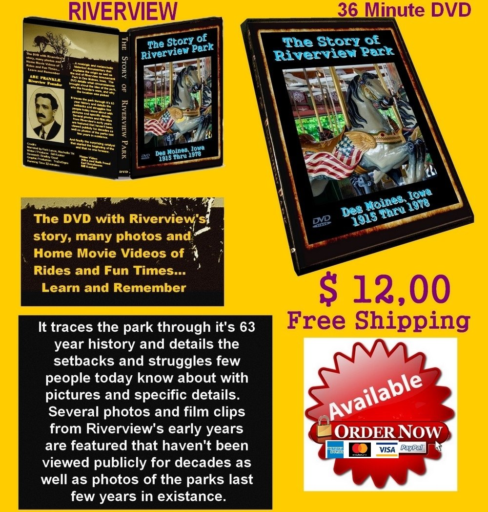 "DVD "" The Story of Riverview Park""    FREE SHIPPING ON THIS ITEM"
