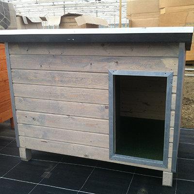 Hondenhok WOOD 2 grijs 00192