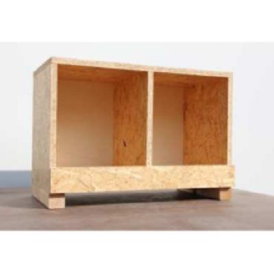 houten legnest  OSB dubbel 00404