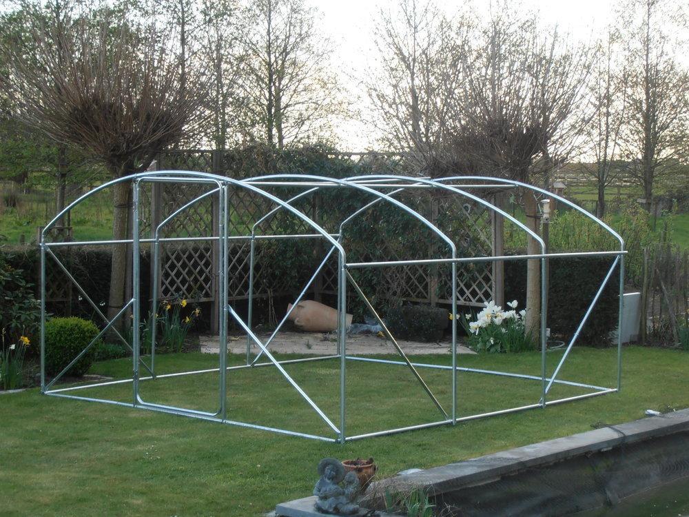 Kader / frame   4 x 3.5 x 2 m met deur buizen 32 mm 00433