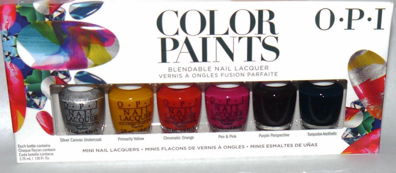 6 Colors OPI COLOR PAINTS Blendable Mini Nail Lacquer Polish Set ...