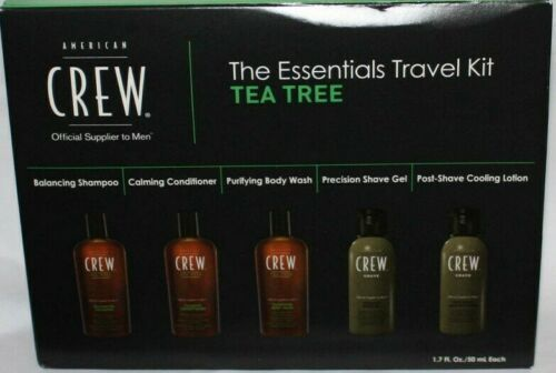AMERICAN CREW The Essentials Travel Kit For Hair, Face & Body With TEA TREE 06382