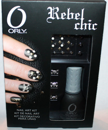 Orly REBEL CHIC Iron Butterfly Nail Polish .6 oz & Nail Art Kit 09001