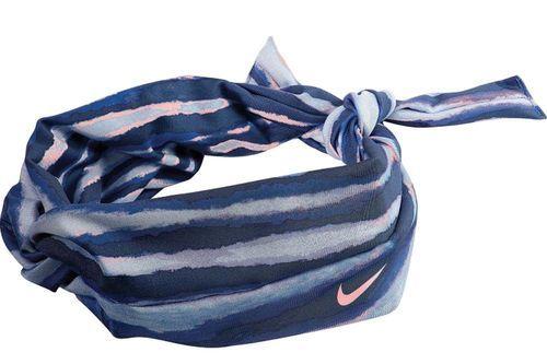 Nike Studio Unisex Twist Blue/Black/White/Mango Tiger Print Head Tie (One Size) 08841