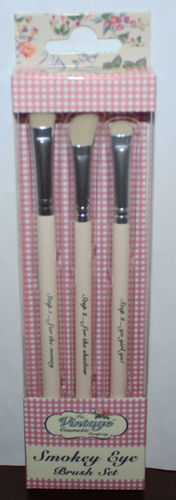 The Vintage Cosmetic Company Smokey Eye Brush Set Shadow/Angled Shadow/Smudger 08752