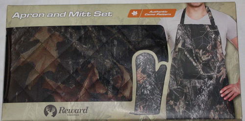 Rewind Authentic Camo Print Apron And Mitt Set 08738