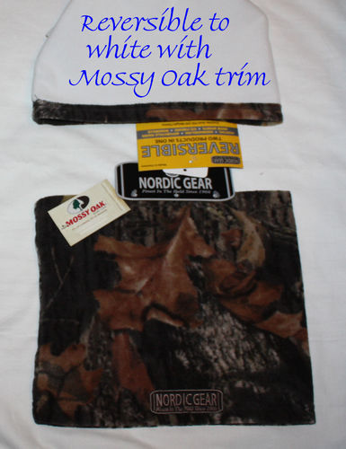 Nordic Gear Unisex Mossy Oak Breakup Reversible to White Neck Warmer (One Size) 08730