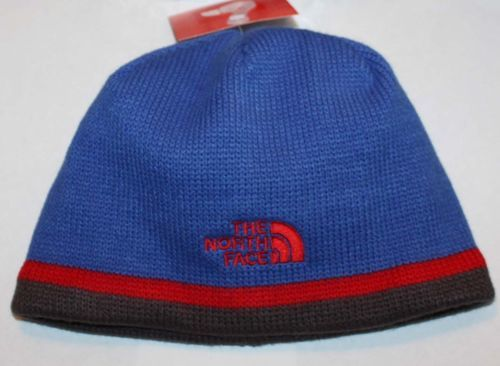 The North Face KEEN YOUTH Boy's Nautical Blue/Red/Brown Beanie Hat (Medium) 08593
