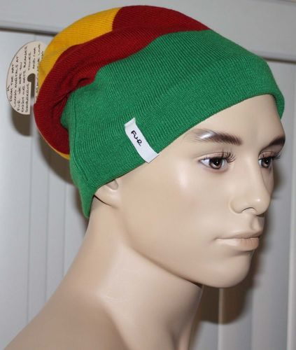 Turtle Fur HOLMES Yellow/Red/Green Slouch Fit Beanie Hat (One Size) 08590