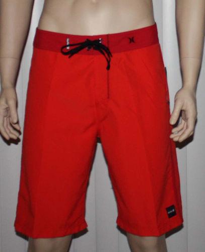 Hurley CHROMATONE Men's Red Swim Board Shorts (Size 34) 08268
