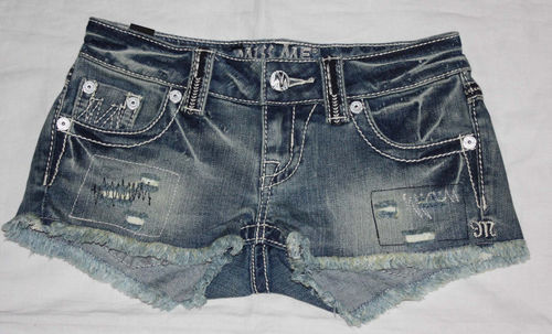 Miss Me THE M SERIES Women's Distressed/Destroyed Denim Shorts (Size 23) 08263