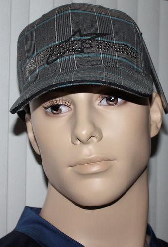 Alpinestars 4W STUDDED Men's Black/Aqua/Gray/White Plaid Hat Cap (One Size) 08243
