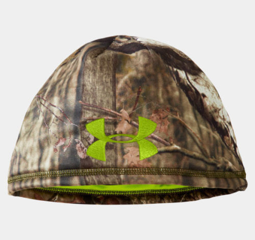 Under Armour Men's UA DEADCALM Mossy Oak Break-Up Infinity Camo Beanie Hat (Large/X-Large)