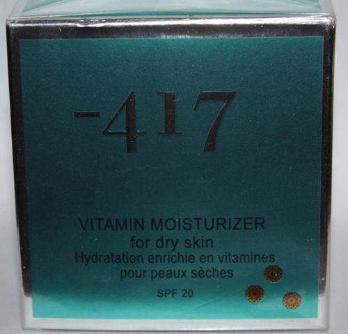 Minus -417 Dead Sea Cosmetics Vitamin Moisturizer For Dry Skin 1.7 oz 08053
