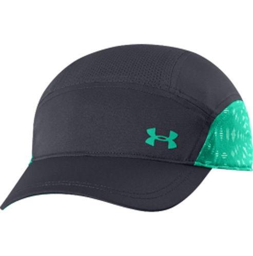 Under Armour Catalyst Women's Lead/Emerald Lake Adjustable Run Cap Hat