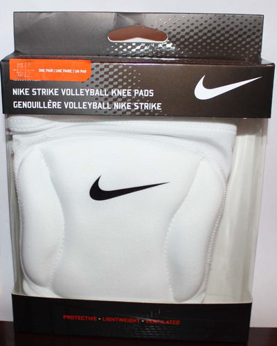 Nike STRIKE Unisex 1 Pair White Volleyball Knee Pads (X-Small/Small) 07778