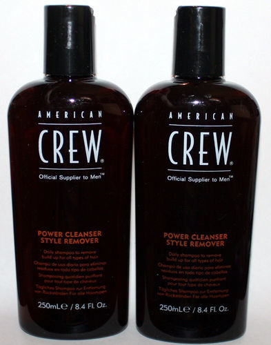 Lot Of 2 American Crew Power Cleanser Styler Remover Daily Shampoo 8.4 oz Each 07633