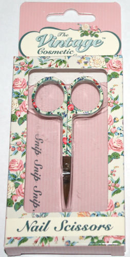 The Vintage Cosmetic Company Stainless Steel Floral Nail Scissors