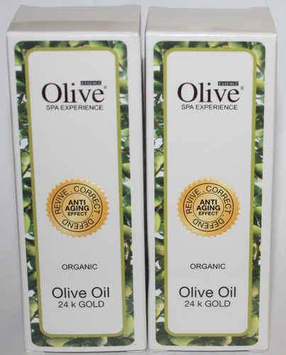 Lot Of 2 Olive Essence ORGANIC 24K Gold Olive Oil 1 oz Each 07530