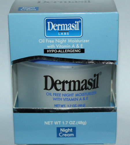 Dermasil Oil-free Night Moisturizer With Vitamin A & E For Face 1.7 oz *Reduced* 07441